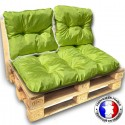COUSSIN DOSSIER pour SALON PALETTE 60*55 cm vert ép 17 cm !