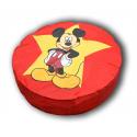 pouf mickey disney geant  rouge 110 cm de diametre