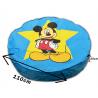 pouf mickey disney geant  bleu 110 cm  de diametre