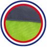 Détail coussin Chien imperméable réversible gris vert anis gris 105x60