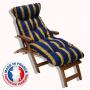Coussin bain de soleil bleu provençal