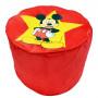 Pouf rouge Mickey Mouse ø 45 cm