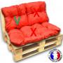 Choix B* - Coussin dossier imperméable orange 60x55 cm pour kit palette