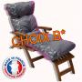 Choix B* - Coussin bain de soleil rose gris