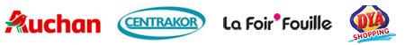 Fabricant revendeur pour Auchan - Centrakor - La Foir'Fouille - Dya Shopping