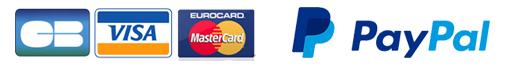 Paiements sécurisés cartes bancaires & Paypal